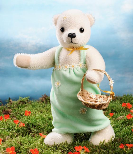 Kosen Usa 7090 Anuschka Mohair Flower Girl Teddy Bear Ltd